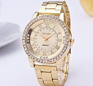 Women's Fashion Watch Quartz Alloy Band Silver Gold Rose