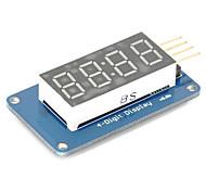 4 bit tubo digitale ha condotto il modulo display con visualizzazione dell'orologio tm1637 per Arduino pi lampone