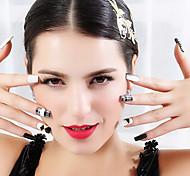 2d láser de metal delgada etiqueta engomada del pvc hermosa joyería de uñas