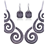 Fashion  Vintage Summer Jewelry Gem / Rhinestone Jewelry Set Necklace/Earrings