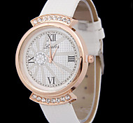 Woman's Rome Dial Diamond Quartz Watch Cool Watches Unique Watches