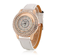 Women's Wrist Watch Korean Fashion Boutique Ball Diamond Rose Gold Case With a Quartz Watch PU(Assorted Colors) Cool Watches Unique Watches