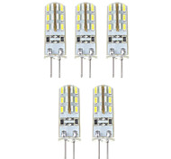 1.5W G4 LED Corn Lights T 24*5 SMD 3014 500 lm Natural White DC 12 V