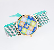 Women's Fashion Watch Quartz Fabric Band Black White Blue Red Brown Green Pink Purple Beige Rose