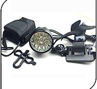 Front Bike Light / Led Headlamps 3 Mode 12000 Lumens / Rechargeable / Impact Resistant 8.4V 8800mAh battery pack