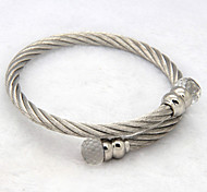 Stainless Steel Wire Cable Colorful Crystal Clasp Elastic Bracelets