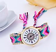 Mulheres Relógio de Moda Quartzo Tecido Banda Cores Múltiplas # 1 # 2 # 3