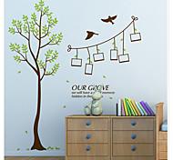 Botanical / Romance Green Tree Photo Wall Stickers / Fashion / Fantasy Wall Stickers Plane Wall Stickers,pvc 60*90cm