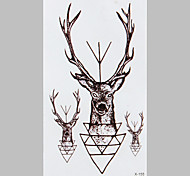tatuaje de la manera ciervos hada negro pegatinas impermeable tatuaje
