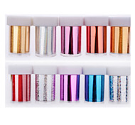 The Explosion Of Hot Manicure Star Sticker Nail Sticker 10 Colors Mix + Glue