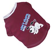 Perros Camiseta Marrón Ropa para Perro Verano Letra y Número / Caricaturas