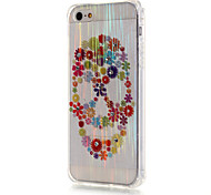 For iPhone 5 Case Translucent Case Back Cover Case Skull Soft TPU iPhone SE/5s/5
