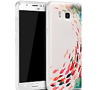 3d alivio material de silicona de moda el modelo gráfico de la contraportada para Samsung Galaxy J5 (2016)