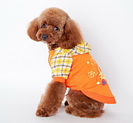 Dog Hoodie / Clothes/Clothing Blue / Orange Summer / Spring/Fall Cartoon Plaid / Fashion-Lovoyager