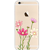 For Case Cover Rhinestone Plating Pattern Back Cover Case Flower Soft TPU for Apple iPhone 6s Plus iPhone 6 Plus iPhone 6s iPhone 6