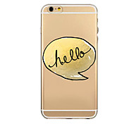 Word Cartoon Transparent Pattern TPU Soft Cover Case for iPhone 6/iphone 6 plus