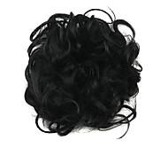 parrucca 6 centimetri nero ad alta temperatura del filo cerchio dei capelli di colore 2