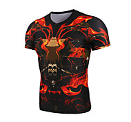 GETMOVING  Short Sleeve  Black Compression Clothing/Yoga/Leisure Sports/Running/Racing/Cycling/Compression  Tops