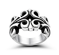 Carve Patterns Or Designs On Woodwork Hollow Out Couple Ring Punk Wind Is Offered