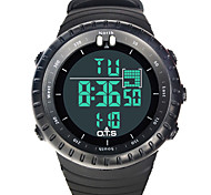 Top Brand OTS Cool Black Mens Fashion Large Face LED Digital Swimming Climbing Outdoor Man Sports Watches