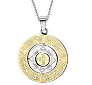 Муж. Ожерелья с подвесками Кулоны Титановая сталь Золотой Бижутерия Повседневные 1шт