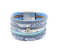 Bracelet Bracelets Wrap / Bracelets en cuir Alliage / Cuir / Strass Mode / Bohemia style / Style PunkSoirée / Quotidien / Décontracté /