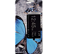 Butterfly Painted Voltage Holster PU Material Clamshell Phone Cover for Huawei Ascend P9/P9 Lite
