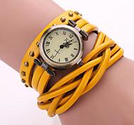 Herren Modeuhr / Armband-Uhr / Armbanduhr Quartz Armbanduhren für den Alltag Leder BandSchwarz / Weiß / Blau / Orange / Braun / Grün /