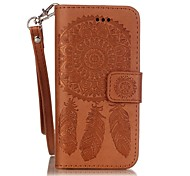 telefono cellulare campanula cinturino in pelle goffrata per iPhone SE / 5 / 5s