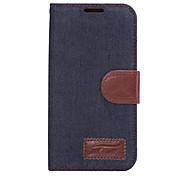 Wallet Card Slot Flip Denim PU-Kasten für Galaxie s6 Rand + s6 Rand s6 s5 s4 s5 mini s4 mini s4 aktiv