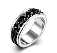 TGR013 New Desigh Fashion Personality Black Gun Plated Stainless Steel Titanium Men's Ring