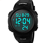 Sports Watch Men's / Ladies' / Unisex LCD / Calendar / Chronograph / Water Resistant / Dual Time Zones / Noctilucent / Stopwatch Digital