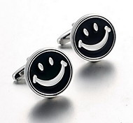 Men's Fashion Smiling Face Silver Alloy French Shirt Cufflinks (1-Pair)