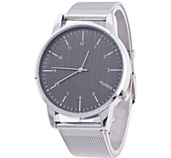 Women/Men's Silver Stainless Steel Band Analog Round Case  Wrist Watch Jewelry Fashion Watch