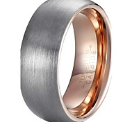 Ring Fashion / Vintage Wedding / Party / Daily / Casual Jewelry Tungsten Steel Men Band Rings 1pc,7 / 12 / 13 Gray / Rose Gold