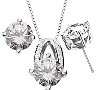 Vintage crystal jewelry Pendants Necklaces Earrings For Women 18K Gold Plated Fashion african Jewelry Sets gifts S20108