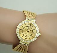 Women's Fashion Watch Bracelet Watch Imitation Diamond Quartz Alloy Band Black Silver Brown Gold