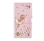 Pour Coque iPhone 7 / Coques iPhone 7 Plus / Coque iPhone 6 / Coques iPhone 6 Plus / Coque iPhone 5 Porte Carte / Strass / Avec Support