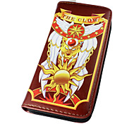 Cardcaptor Sakura Sakura Kinomoto Pink / Brown PU Leather wallets