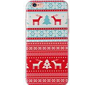caso suave de TPU con el patrón de la impresión en 3D para iPhone 6 6s / 6s iphone / iphone / iphone 6 más, además de nieve rojos