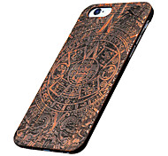 For iPhone 6 Case / iPhone 6 Plus Case Pattern / Embossed Case Back Cover Case Wood Grain Hard Wooden for iPhone 7 Plus / iPhone 7 /