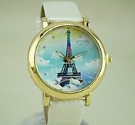 Women's European Style Fashion New Round Sky Tower Casual Watches