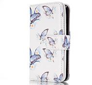 Für iPhone 5 Hülle Geldbeutel / Kreditkartenfächer / mit Halterung / Flipbare Hülle / Muster Hülle Handyhülle für das ganze Handy Hülle