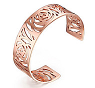 Women's Fashion Hollow Stainless Steel Cuff Bracelet