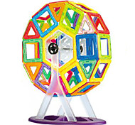 Changed Tyra Magnetic Blocks(64 Magnetic Pills,41 Pieces of Card,A Ferris Wheel, A Wheel)