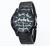 Unisex European Style Fashion Casual Simple Stripe Camouflage Silicone Wrist watch