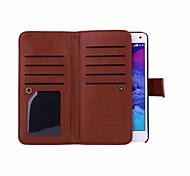 Für Samsung Galaxy Note Geldbeutel Hülle Handyhülle für das ganze Handy Hülle Einheitliche Farbe PU - Leder Samsung Note 5 / Note 4