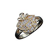 gift box design Guaranteed 100% lady durable casual band ring