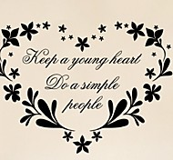 New Keep A Young Heat Vinyl Wall Stickers Home Decor Living Room Diy Removable Art Quote Wall Decals For Decoration
