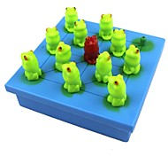 40 Questions Children Puzzle Toys Logical Thinking Training Frog Checkers Game
